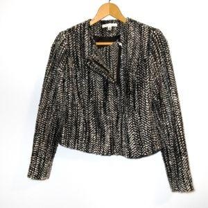 CAbi Asymmetrical Zipper Twead Blazer